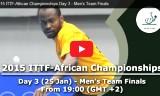 男子団体の決勝戦 アフリカ選手権2015