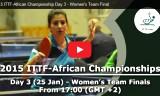 女子団体の決勝戦 アフリカ選手権2015