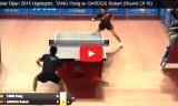 唐鵬VSガルドス(2回戦)カタールオープン2015