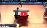 フレイタスVS李平(2回戦)カタールオープン2015