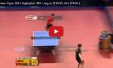 馬龍VS張継科(決勝戦) ドイツオープン2015
