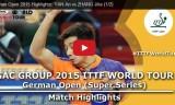 張継科VS閻安(準決勝) ドイツオープン2015