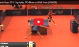 伊藤美誠VSワン(2回戦)スペインオープン2015