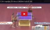 伊藤美誠VSメディナ(1回戦)世界選手権2015