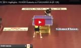 福原愛VSフェヘル(1回戦)世界選手権2015