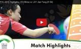 伊藤美誠VSレイジェンファン(2回戦)世界選手権2015