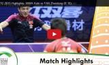 丹羽孝希VS樊振東(4回戦)世界選手権2015