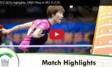 丁寧VS木子(女子準決勝)世界選手権2015