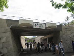 大阪城への道