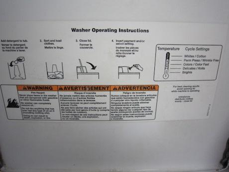 蓋の裏に使い方説明