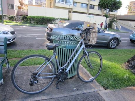 私が借りた自転車