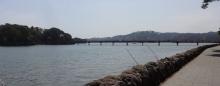 12:28 ホテルそばで見た福浦島・福浦橋
