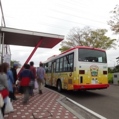 16:13 この送迎バスで多賀城駅へ。