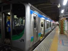 17:20 仙台駅から 杜せきのした駅はこの列車で。