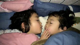 子供たちの寝顔