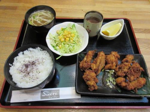 若鶏の唐揚定食 ¥950
