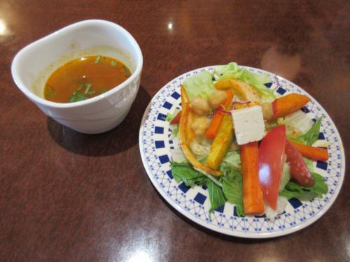 サラダ&南インドスープ