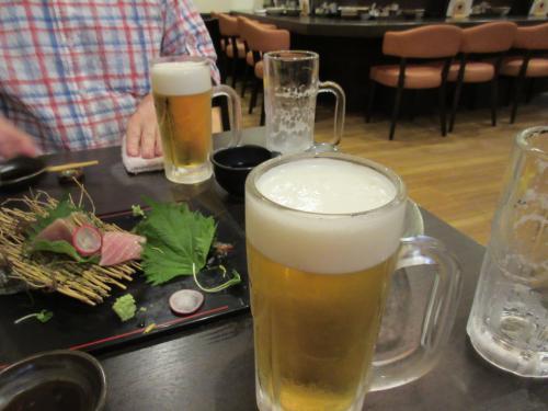 ビールが進んでます