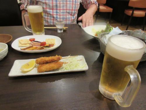 再びビール