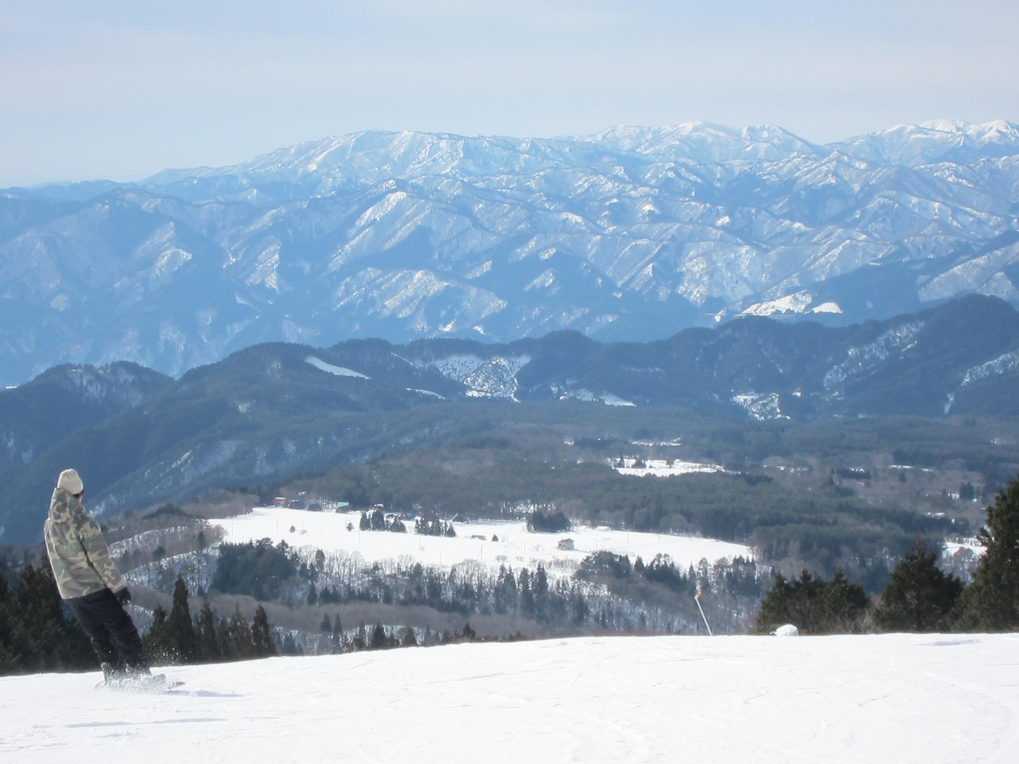 絶景 雪のコンディション絶好