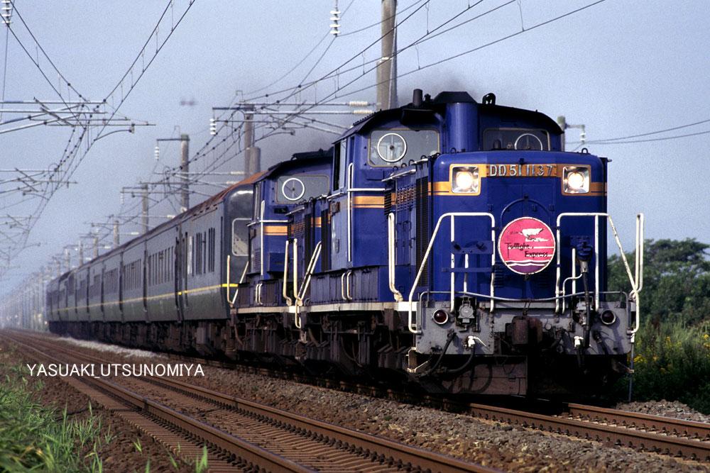 DD51重連+トワイライト