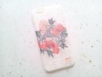 iPhoneカバー スマホカバー 和紙 和柄 和風 友禅和紙 モダン 牡丹 レース和紙 花柄