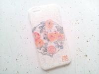 iPhoneカバー スマホカバー 和紙 和柄 和風 友禅和紙 モダン 紅型友禅 茉莉花 花柄 麻の葉