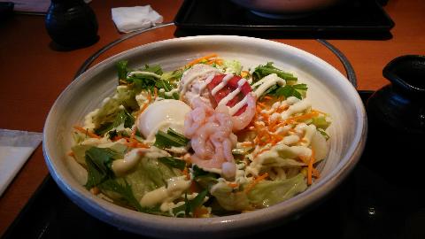 サラダうどん