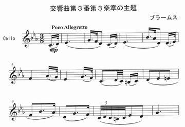 ブラームス交響曲第3番第3楽章の主題