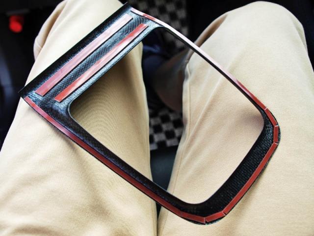ドライカーボン製シフトカバーパネル4