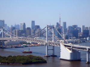 044レインボーブリッジと東京タワー