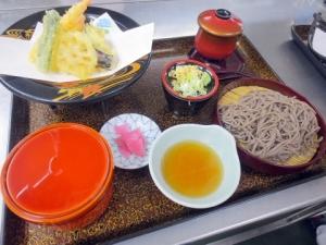 009天ぷら定食そばセット