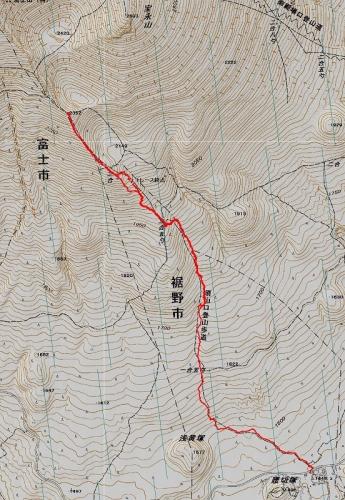 宝永山軌跡