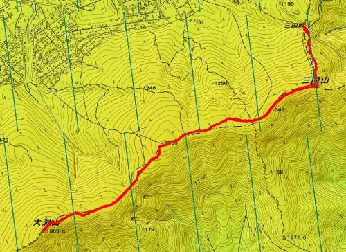 150221 大洞山軌跡