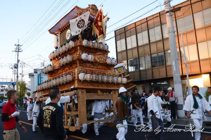 原之前荒神祭 西新町屋台(西新町だんじり) 愛媛県西条市神拝原の前 西条祭り2013
