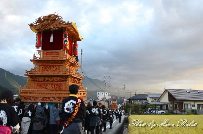 駅西だんじり(駅西屋台) 統一運行 西条祭り