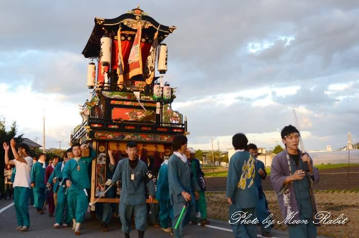 錦町だんじり(錦町屋台) 統一運行 西条祭り