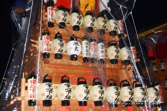 祭り提灯 常心下組屋台(中南だんじり) 西条祭り 伊曽乃神社祭礼 愛媛県西条市
