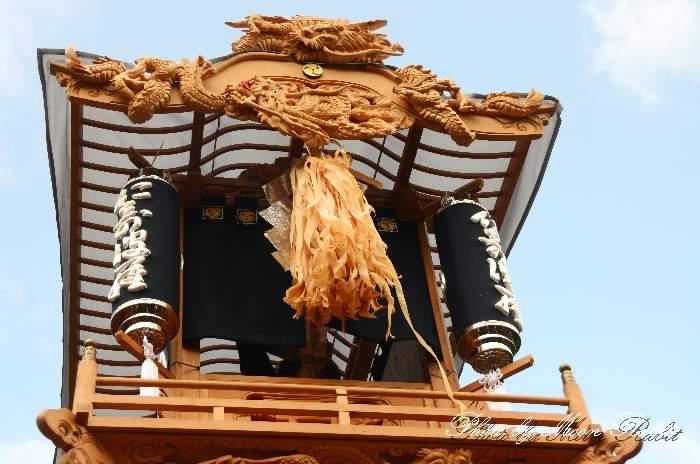祭り提灯 西之原屋台(西の原だんじり) 石岡神社祭礼 西条祭り