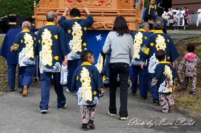 蛭子屋台(恵比寿だんじり) 祭り装束 石岡神社祭礼