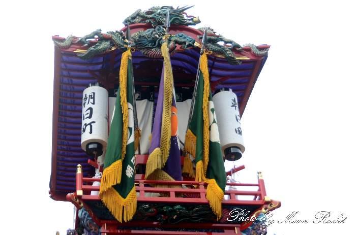 祭り提灯 朝日町だんじり(朝日町屋台) 石岡神社祭礼 西条祭り