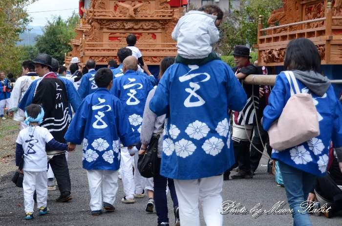 宮の下だんじり(宮之下屋台) 法被 祭り装束 石岡神社祭礼