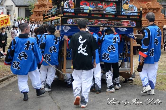 新兵衛屋台(新兵衛だんじり) 祭り装束 石岡神社祭礼