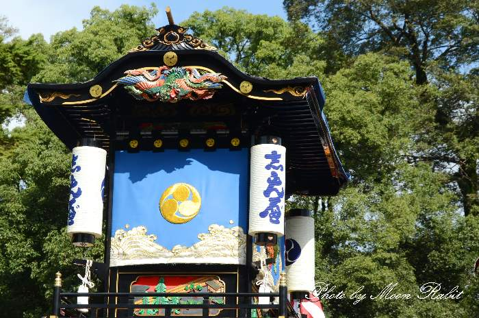 隅提灯 新兵衛屋台(新兵衛だんじり) 西条祭り 石岡神社祭礼