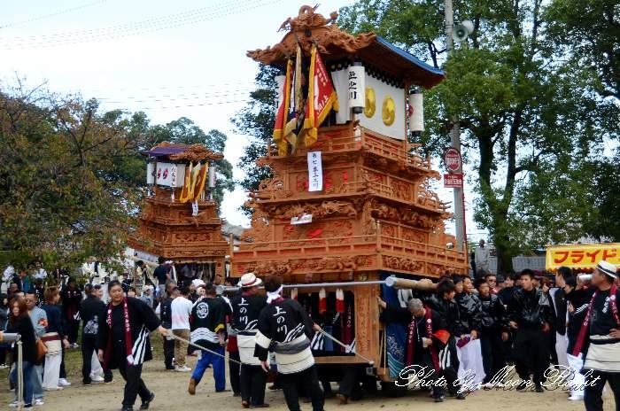 石岡神社祭礼 上之川だんじり(上の川屋台) 本殿祭