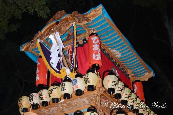祭り提灯 日明屋台(日明だんじり) 西条祭り 伊曽乃神社祭礼 愛媛県西条市
