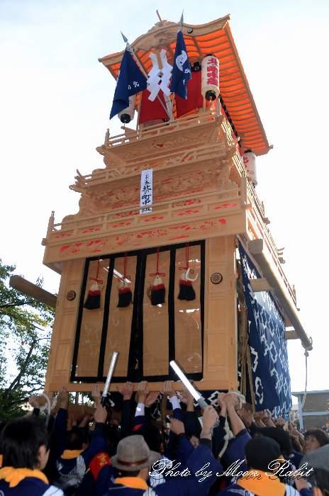 北の町中組だんじり(北之町中組屋台) ご殿前 西条祭り