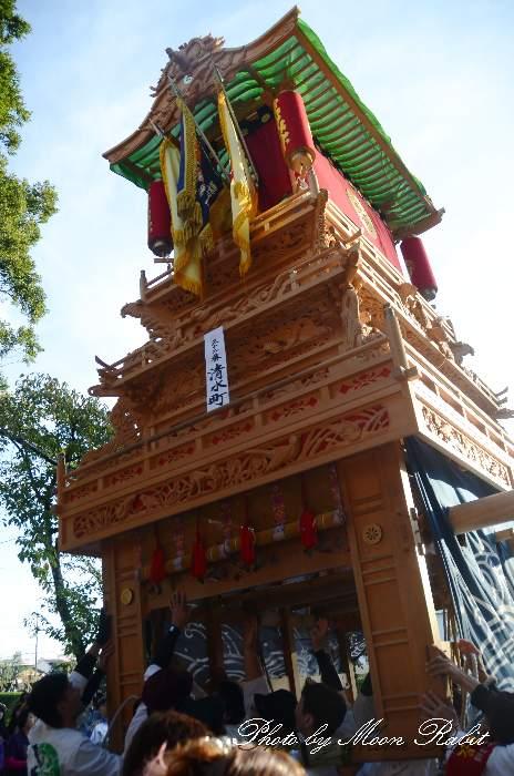 清水町だんじり(清水町屋台) ご殿前 西条祭り