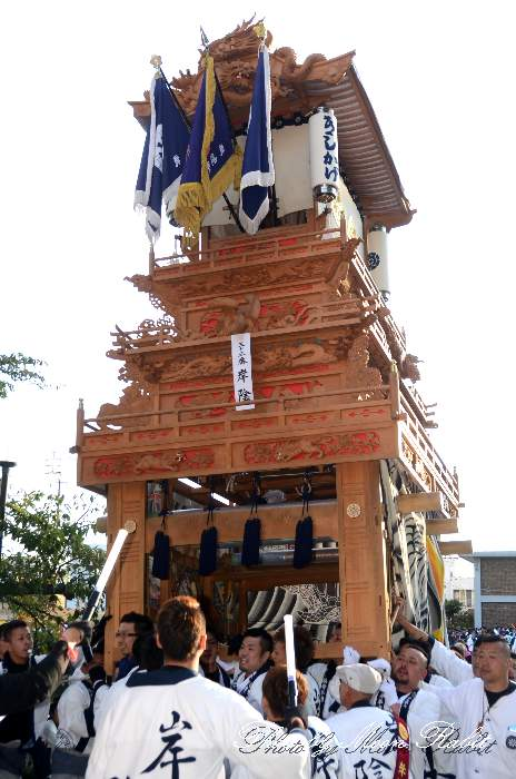 岸陰だんじり(岸陰屋台) ご殿前 西条祭り