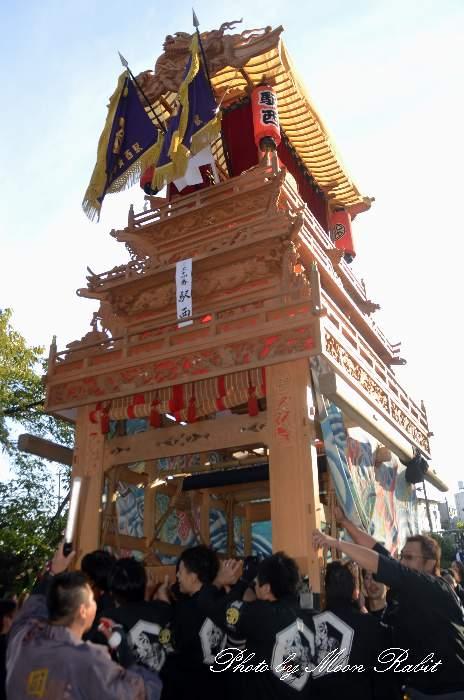 駅西だんじり(駅西大通り屋台) ご殿前 西条祭り